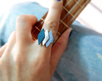 Bohemian style leather ring