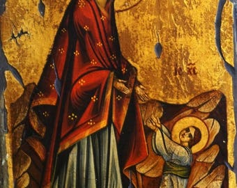 Jesus First Steps - Handpainted Byzantine icon