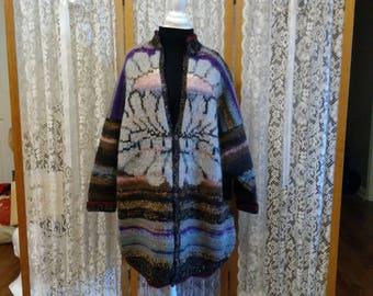 Women's luxury designer handknit coat. Used.