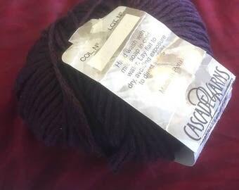 Cascade Deep Plum Venezia Silk Yarn