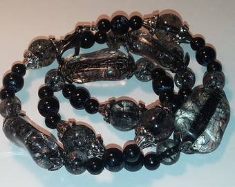 Black and Clear Necklace!