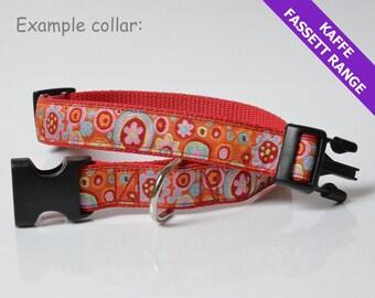 Bespoke dog lead & collar (35-53cm), 25mm width