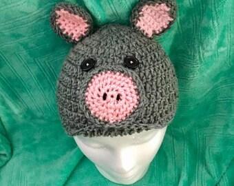 Piggy Hat for Adult
