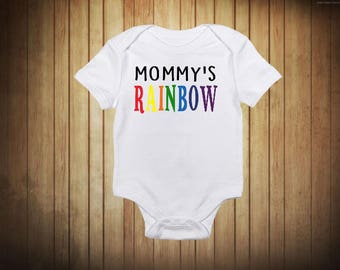Mommy's Rainbow Onesie{*Ships in 1 Business Day}