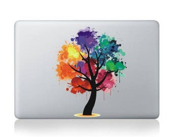 "Colourful Autumn Tree Vinyl Sticker Skin Decal Cover Top Lid Case for Apple MacBook Pro, Macbook Air, Mac, iMac 11"" 12"" 13"" 15"" Laptop"