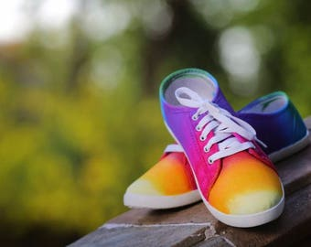 Handpainted Canvas Shoes . designed with love