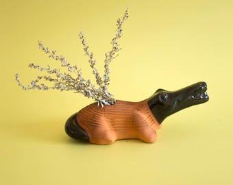 Crocodile Ikebana Vase