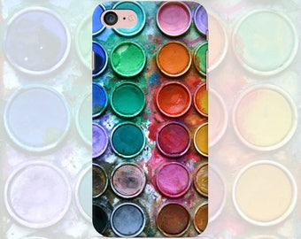 Watercolor Phone case iPhone 7 7 Plus 6 6s 6 plus 5 5s 5se 4 4s Samsung galaxy case s7 edge s7 s6 s5 s4 s3 mobile phone cover paints gouache