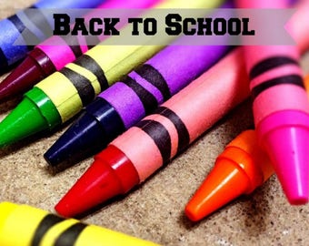 Back to School Desktop Wallpaper - Crayon Art Instant Download - Colorful Digital Art Download - Color Crayon Computer Wallpaper