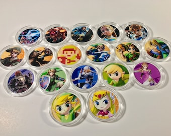 The Legend of Zelda Breath of the Wild Amiibo Coins in Hard Cases Amiibo Mini Cards