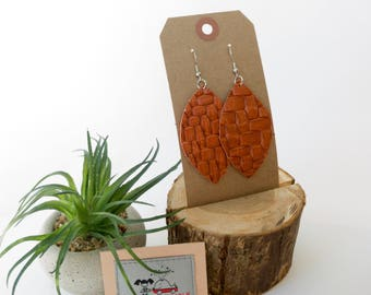 Leather earring set - 0005