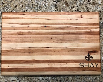 Personalized Solid Hickory Cutting Board