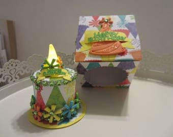 Birthday Hat Mini Battery Operated Tea Light Cake
