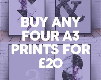 Bundle of 4;Multi Deal; Wall Prints;Home Decor;Wall Hangings: Wall Decor;Art;Wall Gallery