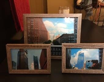 Photos of city; set of three