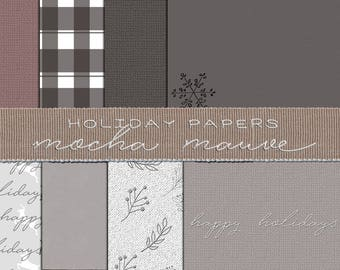 Mocha Mauve Holiday Papers