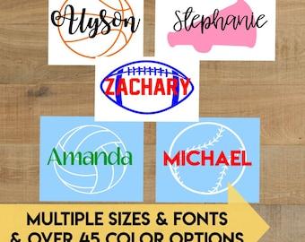 Sports Laptop Decal Sticker | Basketball | Soccer | Volleyball | Cheerleading | Base Ball | Softball