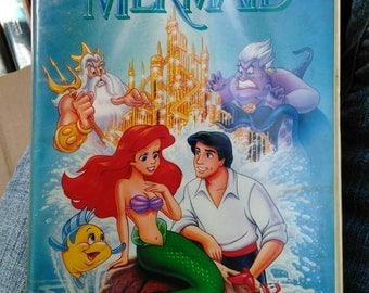 Disney Little Mermaid 1990 Banned Cover VHS