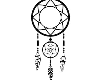 Dreamcatcher with feathers Decal