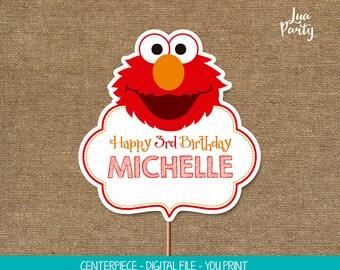 Elmo centerpiece print yourself, Elmo birthday centerpiece, Sesame street birthday centerpiece