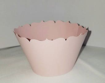 Cupcake wrapper light pink Birthday party Event Girl Party Simple Birthday