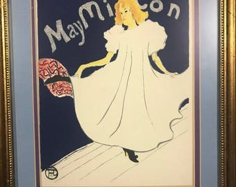 May Milton by Toulouse-Lautrec, signed and numbered lithograph