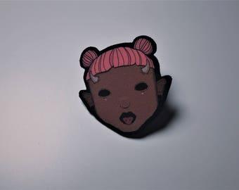 Horn Girl Pin