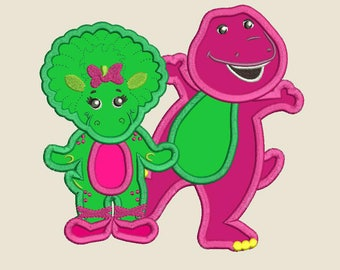 Barney Barney and Friends Baby Bop Applique Design 3 sizes for Instant Download