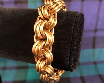 Pictish chain bracelet in brass