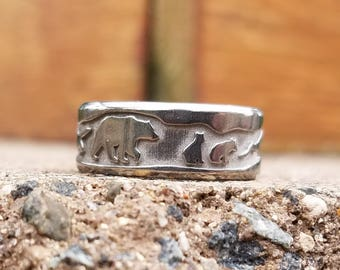 Bear Wedding Band Nature Cubs Mountain Valley