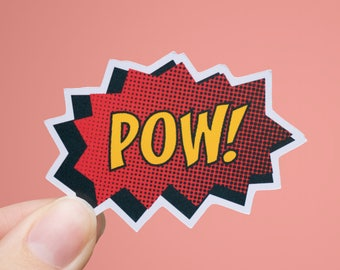 POW! Sticker | Comic Book Sticker | Matte or Glossy Finish