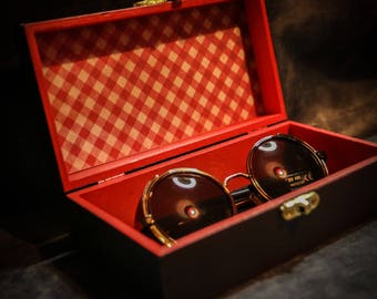 Steampunk,Cyber,Victoriana,Gothic or Vintage Copper Sunglasses and Presentation Box