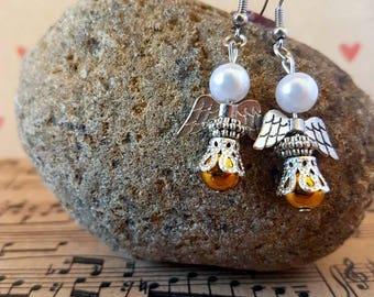 Angel earrings-gold