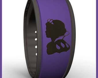 Snow White Silhouette Disney Inspired MagicBand Decal - Compatible with Both Style of Magic Bands