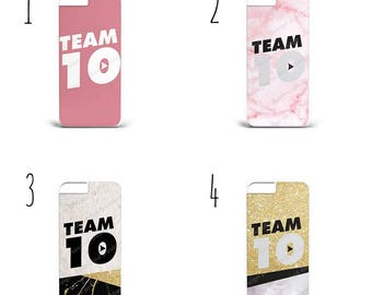 Team 10 Pattern Print Design Hard Plastic Phone Case Cover For All iPhone & Samsung models