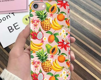 Fruit case iPhone 7 case iPhone 7 Plus case iPhone 6s case iPhone 8 case iPhone SE case iPhone 8 Plus case banana iPhone 6 Plus case clear
