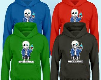 Undertail Kids Hoodie Sans Game Cartoon Gift Hoody Gaming Funny Boys Girls Sweat Jumper