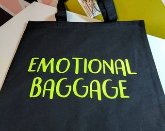 Emotional Baggage Cotton Tote Re-Usable Shopping Bag Purse