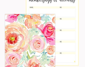 Floral Membership & Account Book