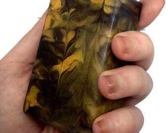 FLORAL - golden and black glycerin soap with essential oils
