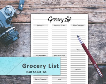 Grocery, Planner Inserts, Lists, Tracker, Grocery List Pad, Grocery List Printable, Grocery List Notepad, Grocery List Planner