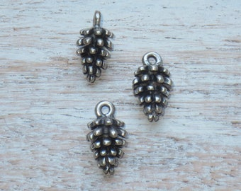 Antique Silver Acorn Charms