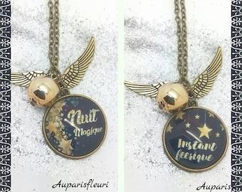 """Bronze double necklace """"unforgettable"""""""