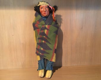 Vintage Native American Skookum Indian Doll - RARE!