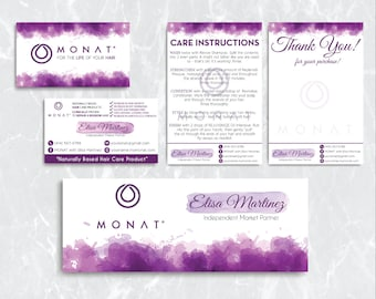 Monat Mareting kit, Custom Monat Business Card, Monat Hair Care, Monat Global, Monat starter Pack, Printable Card MN05