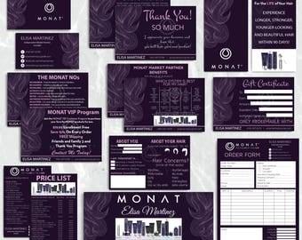 SALE!! Monat Marketing kit, Custom Monat Business Card, Monat Hair Care, Monat Marketing Package, Monat Flyer, Printable Card MN08