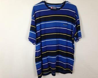 90's ralph lauren blue striped shirt size L