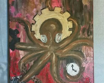 Steampunk Gear Octopus