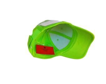 Bright Green Baseball Hat with Pocket