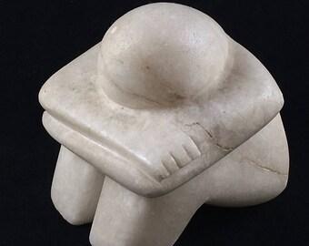 Italian White marble Sculpture--Meditation/Thinker/Sleeping